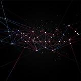 Rete futuristica di tecnologia in bianco e nero geometrica Fotografia Stock Libera da Diritti