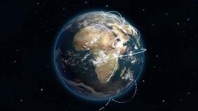 Rete globale crescente di Loopable illustrazione di stock