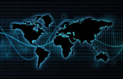 Rete globale di industria di telecomunicazioni Immagini Stock
