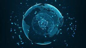 Rete globale di sicurezza fotografia stock libera da diritti