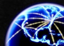 Rete Internet di telecomunicazioni Fotografie Stock Libere da Diritti
