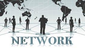 RETE - lettere 3D davanti all'affare del fondo o al concetto di Internet della rete globale illustrazione vettoriale