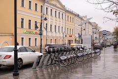 Rete locativa della bici a Mosca fotografia stock