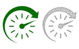 Rete Mesh Time Forward di vettore ed icona piana illustrazione vettoriale