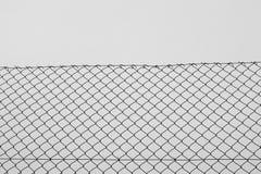 Rete metallica del recinto del collegamento a catena Fotografia Stock