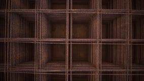 Rete metallica saldata Fotografia Stock