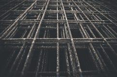 Rete metallica saldata in bianco e nero Immagini Stock