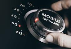 rete mobile della quinta generazione, sistema senza fili 5G Immagini Stock