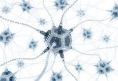 Rete neurale artificiale Fotografia Stock