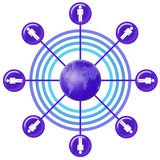 Rete sociale (07) Immagini Stock