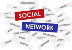 Rete sociale Fotografia Stock