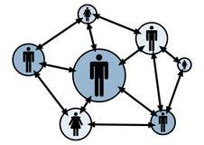 Rete sociale illustrazione vettoriale