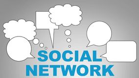 Rete sociale illustrazione di stock