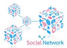 Rete sociale Fotografie Stock