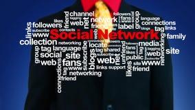 Rete sociale crescente stock footage