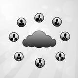 Rete sociale del collegamento a Internet della nuvola Immagine Stock
