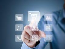 Rete sociale del touch screen di Smartphone Fotografia Stock Libera da Diritti