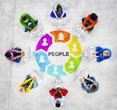Rete sociale della gente e concetti della gente Fotografia Stock