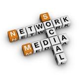 Rete sociale di media Fotografia Stock