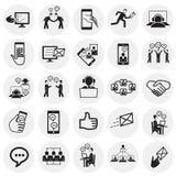 Rete sociale e collegamenti sul fondo dei cerchi royalty illustrazione gratis