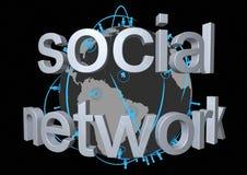 Rete sociale globale Fotografia Stock