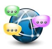Rete sociale globale Innesta l'icona Immagini Stock