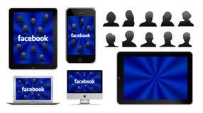 Rete sociale su Apple Fotografie Stock Libere da Diritti