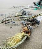 A rete sulla spiaggia Fotografie Stock Libere da Diritti