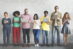 Rete Team Concept di tecnologia del collegamento di Digital Immagine Stock Libera da Diritti