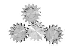 Rete, vendita e media sociali Fotografia Stock Libera da Diritti