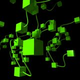 Rete verde Immagine Stock