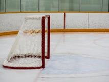 Rete vuota dell'hockey Immagine Stock