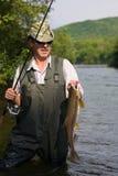 Retenes del pescador de salmones Fotos de archivo libres de regalías