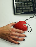 Retenir la souris d'amour Photos libres de droits