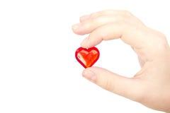 Retenir le coeur photo libre de droits