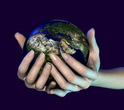 Retenir le monde Image libre de droits