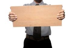 Retenir le panneau en bois Photos stock