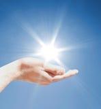 Retenir le soleil Photo libre de droits