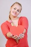 Retenir un coeur Photo libre de droits