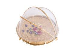Retention food storage basket tray. Royalty Free Stock Image