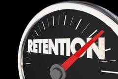 Retention Level Rising Improvement Speedometer Royalty Free Stock Image