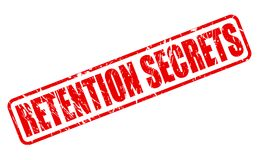 RETENTION SECRETS red stamp text. On white Royalty Free Stock Image