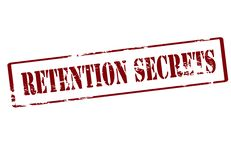 Retention secrets. Stamp with text retention secrets inside, illustration Royalty Free Stock Photography