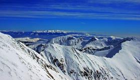 Retezat山在冬天 免版税库存照片