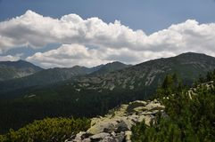 Retezat山,罗马尼亚 图库摄影
