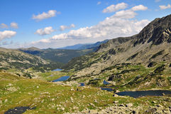 Retezat lakes. One of the specific features of the Retezat mountains is the wide spread presence of glacier lakes stock photos
