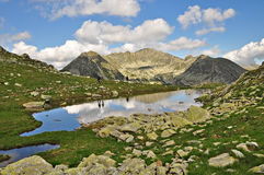 Retezat lakes. One of the specific features of the Retezat mountains is the wide spread presence of glacier lakes royalty free stock image