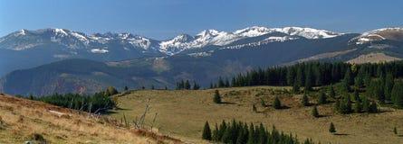Retezat Mountain. Eastern views panoramic Royalty Free Stock Images