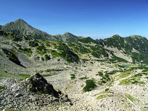 Retezat Mountain. View from Curmatura Bucurei Royalty Free Stock Photo