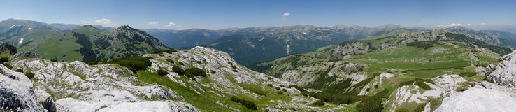 Retezat mountains-panoramic view Royalty Free Stock Images